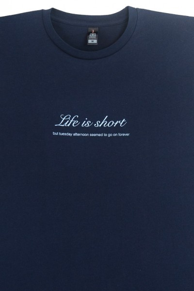 LIFE IS SHORT ON NAVY